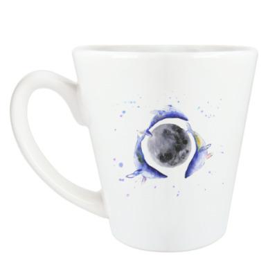 Чашка Латте Лунные киты