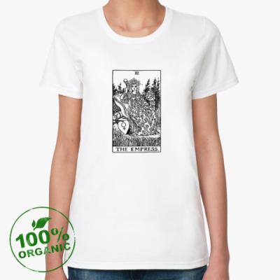 Женская футболка из органик-хлопка Императрица (карта Таро)