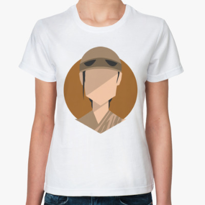 Классическая футболка Рей (Звёздные войны)