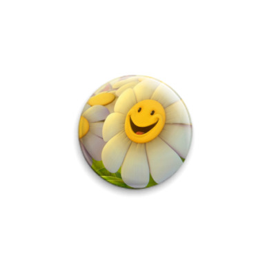 Значок 25мм  Smile Flower