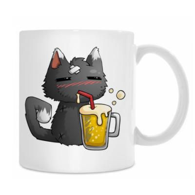 Пьющий кот