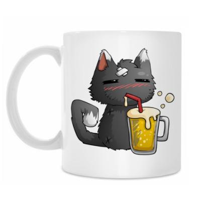 Кружка Пьющий кот