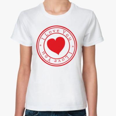 Классическая футболка Печать любви