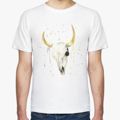Футболка Декоративный череп коровы