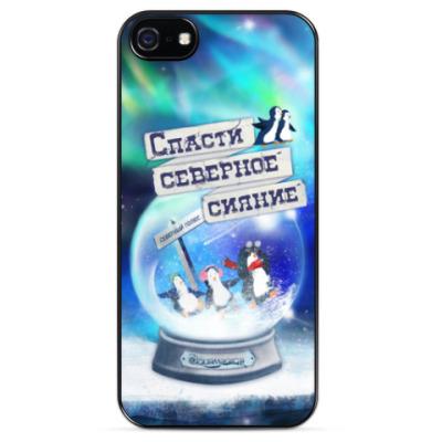 Чехол для iPhone Елка на воде (iPhone 5)