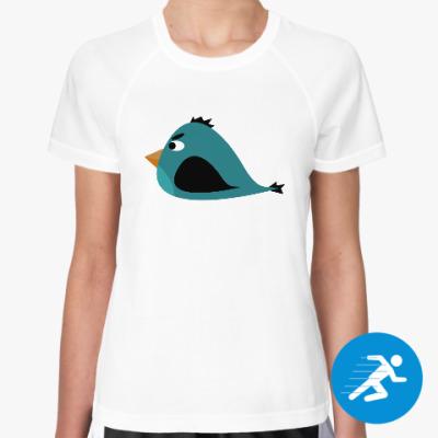 Женская спортивная футболка Злая птица