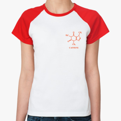 Женская футболка реглан 'Caffiene'