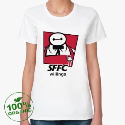 Женская футболка из органик-хлопка SFFC Wiiiings