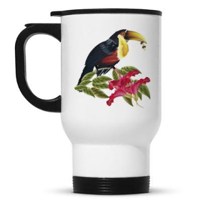 Кружка-термос Тропическая птица