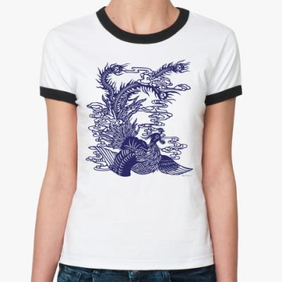 Женская футболка Ringer-T Птица Феникс
