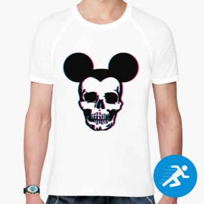 Спортивная футболка 3D skull