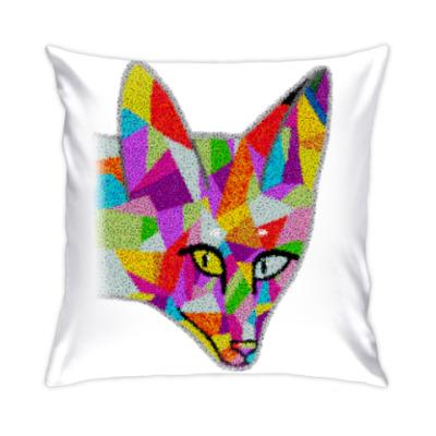 Подушка Лисичка абстрактная