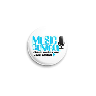 Значок 25мм  Music control