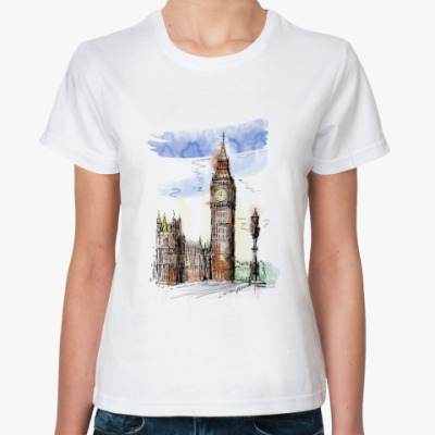 Классическая футболка Биг-Бен - Big Ben - Англия - Лондон