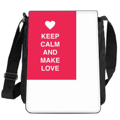 Сумка-планшет Keep calm and make love