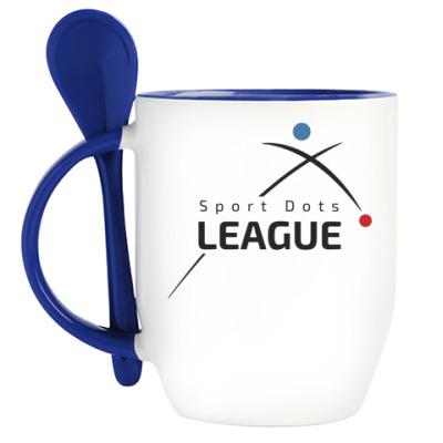 Кружка с ложкой Лига Спортивных Точек