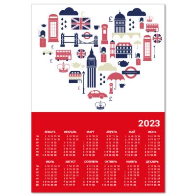 Календарь Англия Лондон