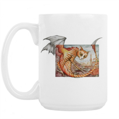 Кружка Кошачий дракон