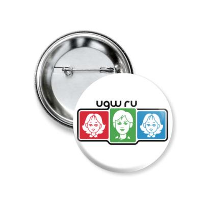 Значок 37мм UGW.ru
