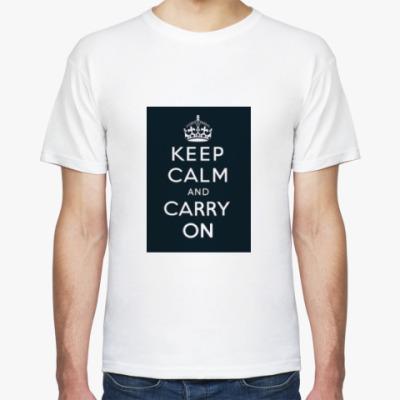 Футболка Keep calm and carry on