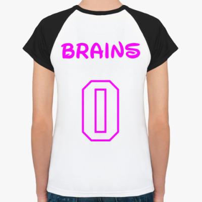 Женская футболка реглан Zero Brains