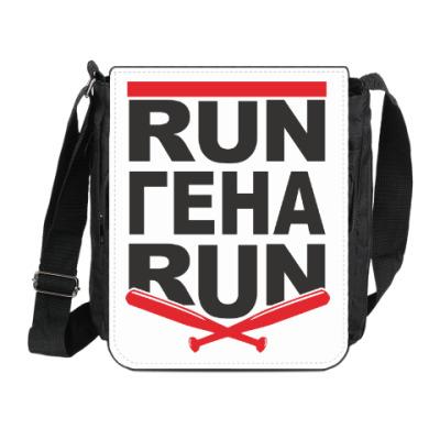 Сумка на плечо (мини-планшет) Run Гена run