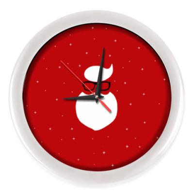 Настенные часы Санта Клаус Хипстер