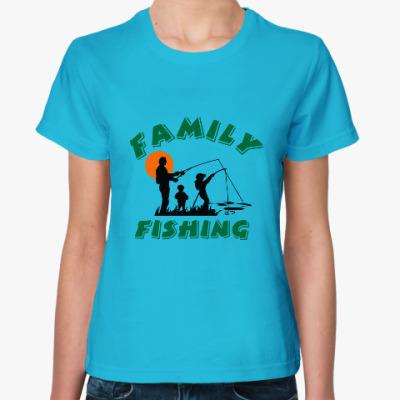 Женская футболка Семейная рыбалка