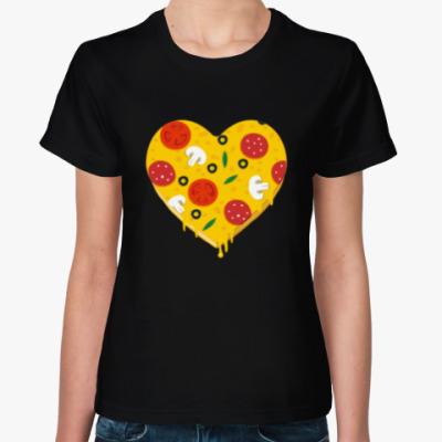 Женская футболка Я люблю пиццу