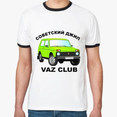Футболка Ringer-T Нива 2121 - советский джип
