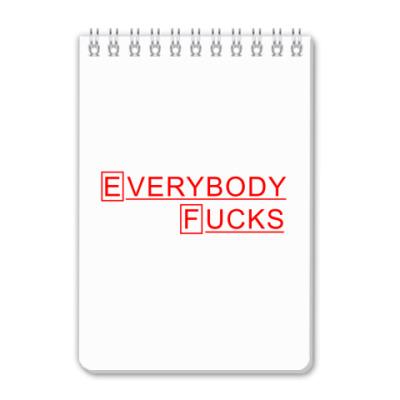 Блокнот Доктор Хаус Everybody F*cks