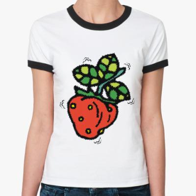 Женская футболка Ringer-T Моя клубничка