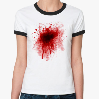 Женская футболка Ringer-T Кровь