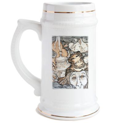 Пивная кружка  Алиса в Стране чудес
