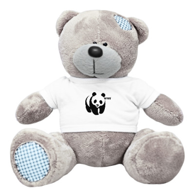 Плюшевый мишка Тедди WWF. Панда с лого