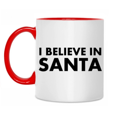 Кружка I believe in Santa