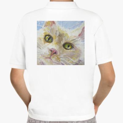 Детская рубашка поло Нежный котик