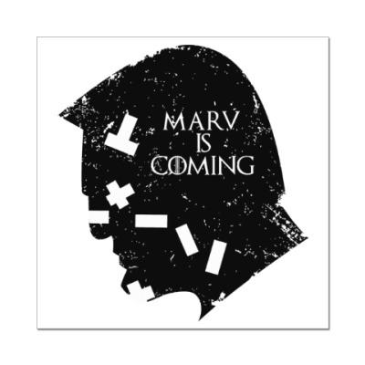 Наклейка (стикер) Марв близко