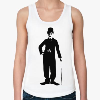 Женская майка Чарли Чаплин