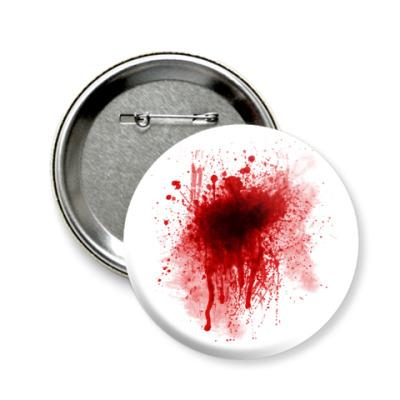 Значок 58мм Брызги Крови
