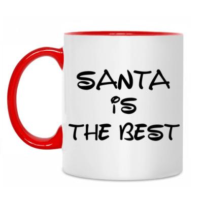 Кружка Надпись Santa is the best