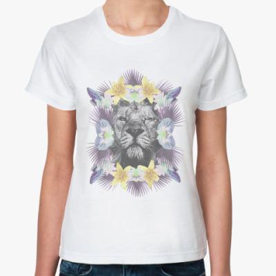 Классическая футболка Flower Lion