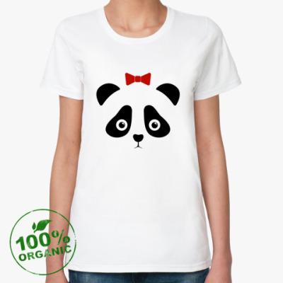 Женская футболка из органик-хлопка Panda Girl / Панда девочка