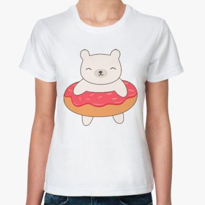 Классическая футболка Мишка в пончике