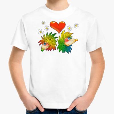 Детская футболка ЁЖИКИ С СЕРДЕЧКОМ