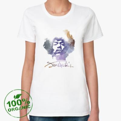 Женская футболка из органик-хлопка  Jimi Hendrix - Джими Хендрикс