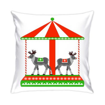 Подушка Новогодняя карусель