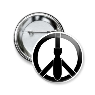 Значок 50мм Peace