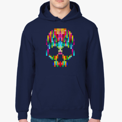 Толстовка худи Pixel Skull