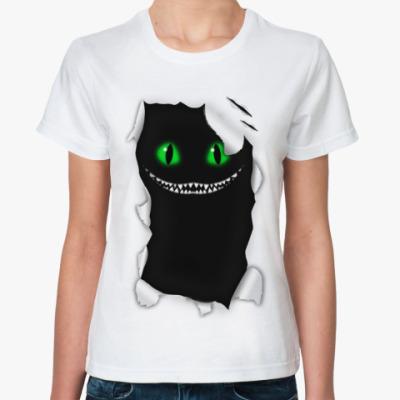 Классическая футболка  'Чеширский кот'